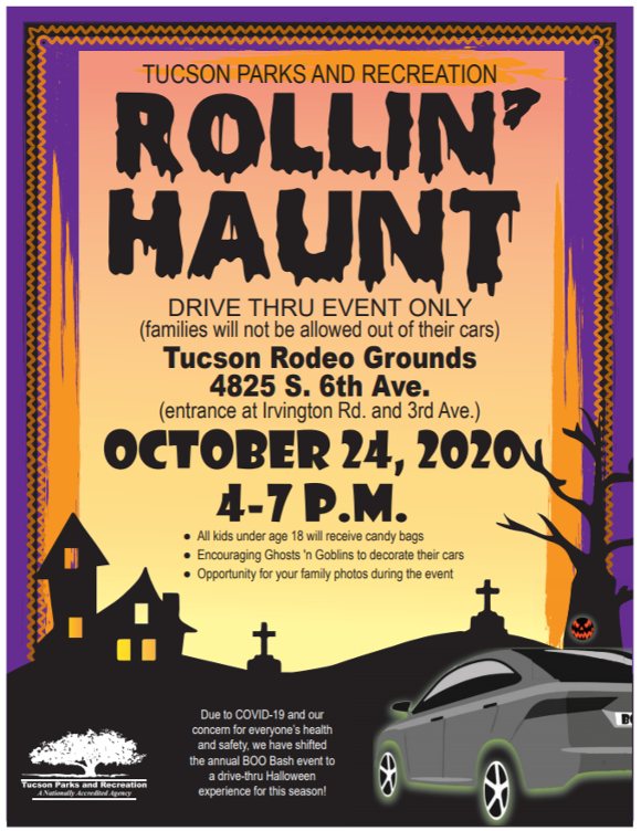 2020 Tucson Halloween Safety Bash Rollin´Haunt Drive thru event at Tucson Rodeo grounds this weekend